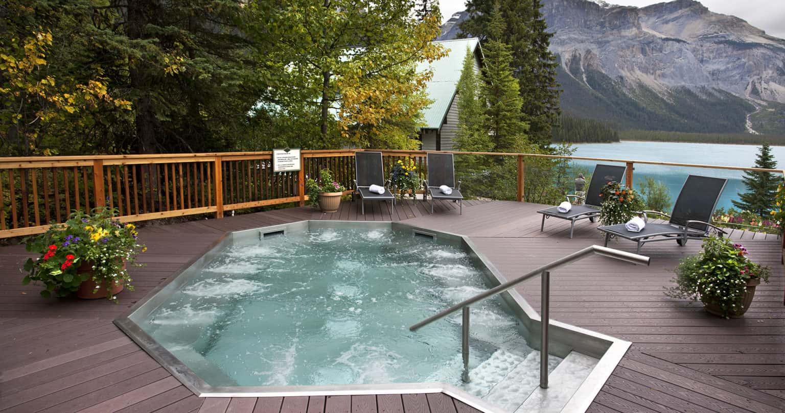 Hot Tub Facilities Available at Emerald Lake Lodge in Yoho National Park