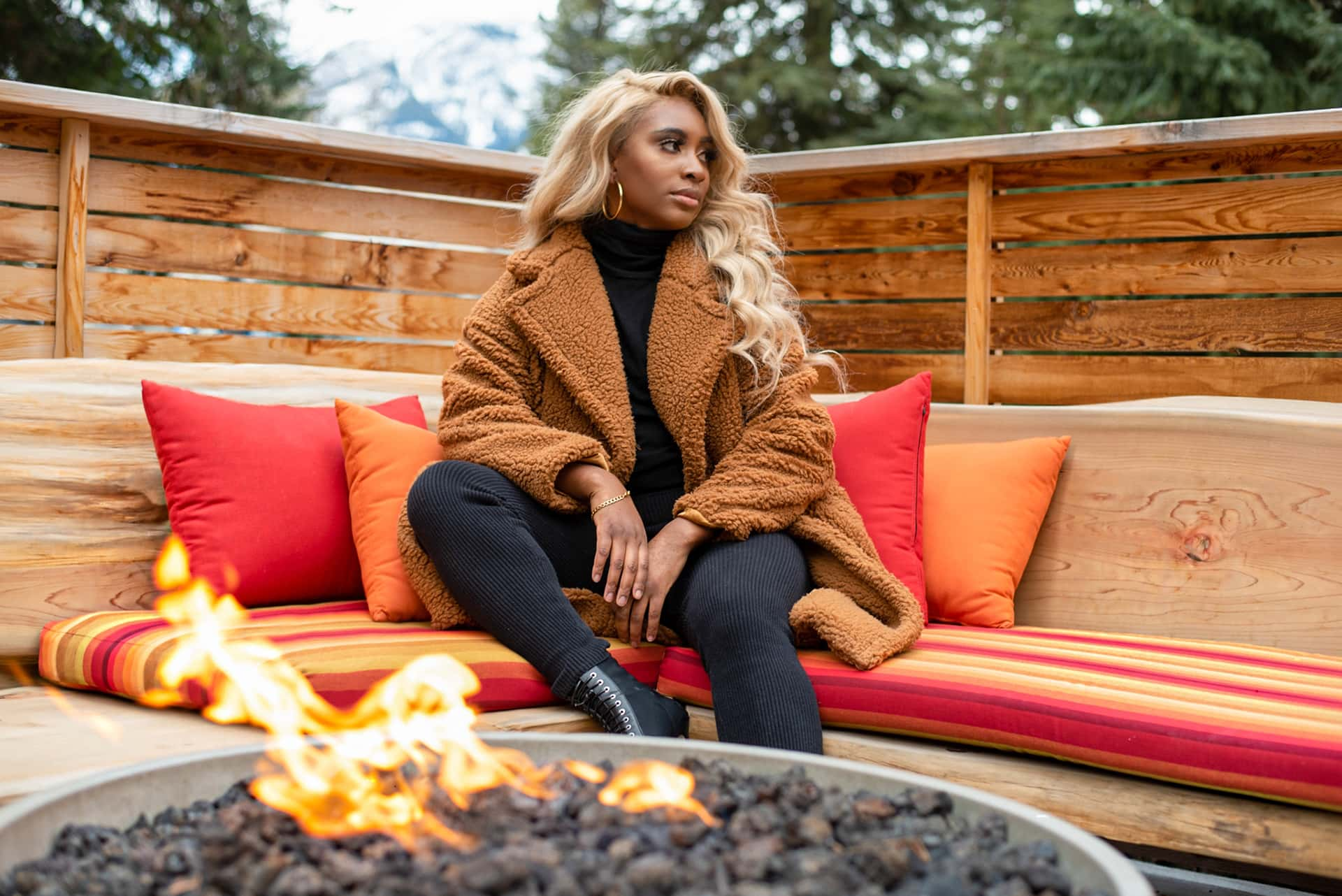 Relax By The Fire Surrounded By The Canadian Rockies