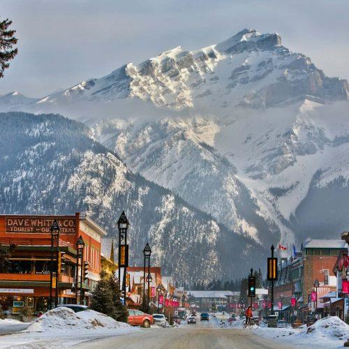 Downtown Banff Alberta in Banff National Park