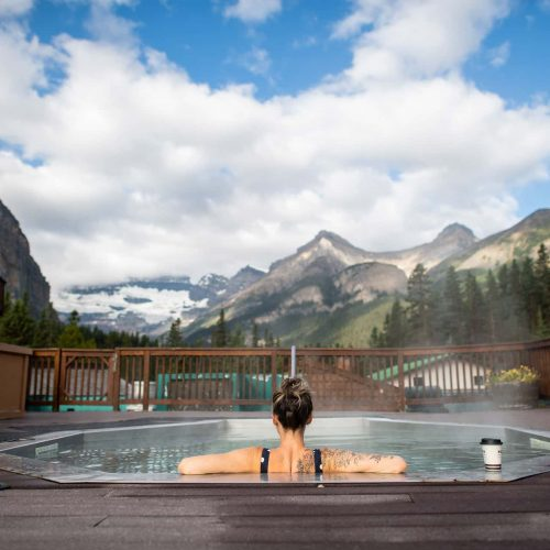Hot Tub Facilities Available at Deer Lodge in Lake Louise